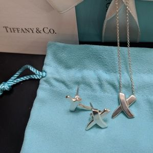 """Authentic Tiffany and Co. Paloma Picasso """"X"""" Set"""